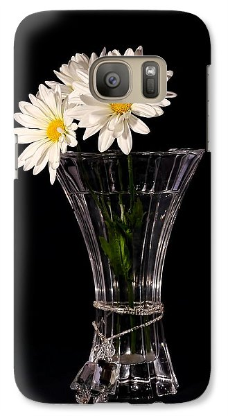 Galaxy Case featuring the photograph Daisies In Vase by Tracie Kaska