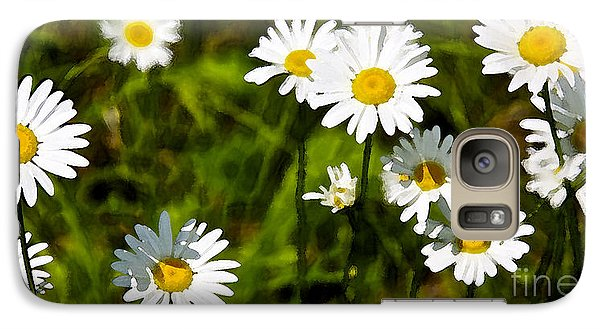 Galaxy Case featuring the photograph Daisies In Watercolor by Susan Crossman Buscho