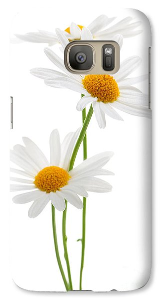 Daisies On White Background Galaxy S7 Case