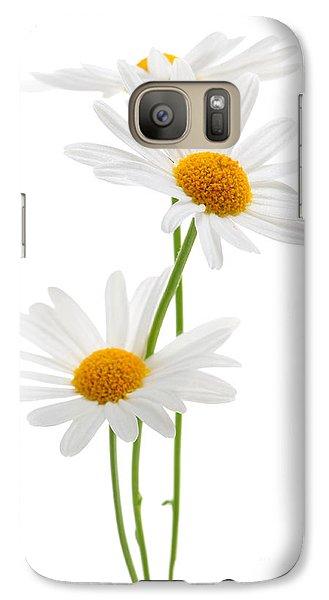 Daisy Galaxy S7 Case - Daisies On White Background by Elena Elisseeva