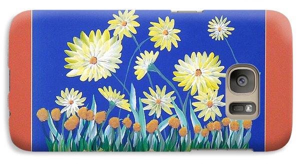 Galaxy Case featuring the painting Daisies by Ron Davidson