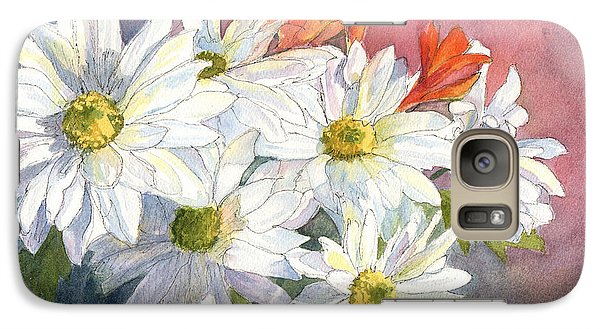 Galaxy Case featuring the painting Daisies by Vikki Bouffard