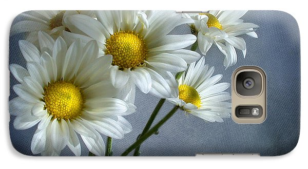 Galaxy Case featuring the photograph Daisy Bouquet by Ann Lauwers