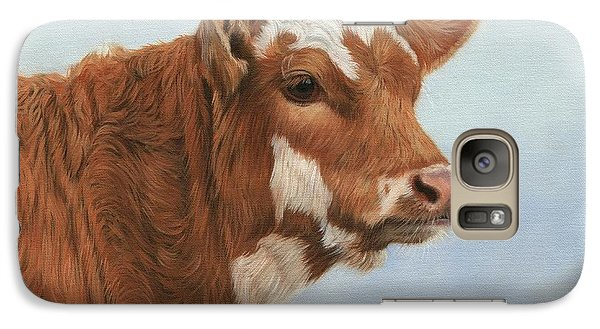 Cow Galaxy S7 Case - Daisy by David Stribbling
