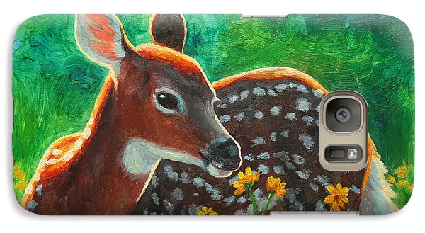 Daisy Deer Galaxy Case by Crista Forest