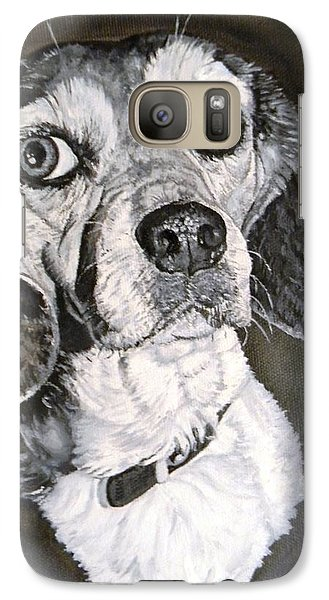 Galaxy Case featuring the painting Daisy Dog by Kevin F Heuman