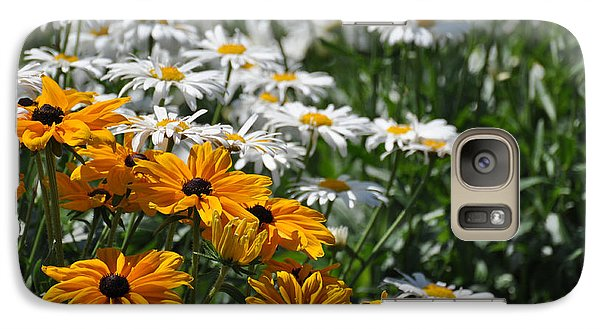 Galaxy Case featuring the photograph Daisy Fields by Bianca Nadeau