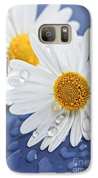 Daisy Flowers With Water Drops Galaxy S7 Case