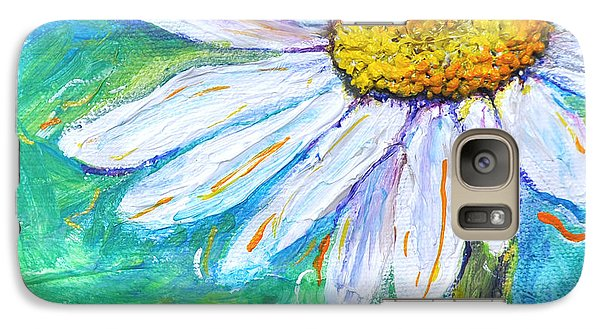 Galaxy Case featuring the painting Daisy Friends by Lisa Fiedler Jaworski