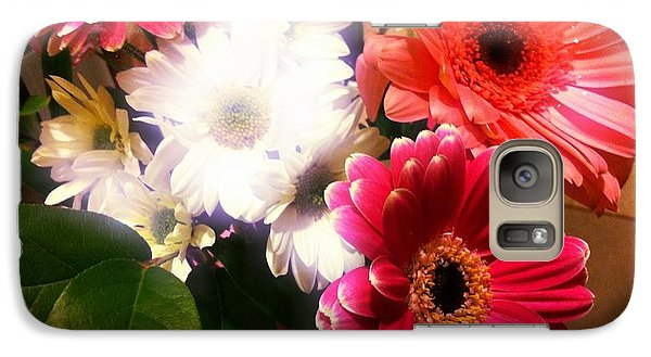 Galaxy Case featuring the photograph Daisy January by Meghan at FireBonnet Art