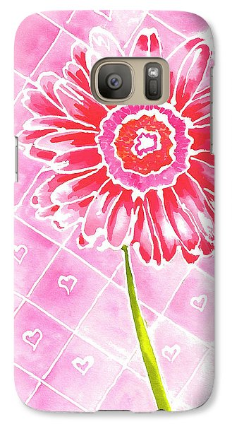 Galaxy Case featuring the painting Daisy Love by Terry Taylor