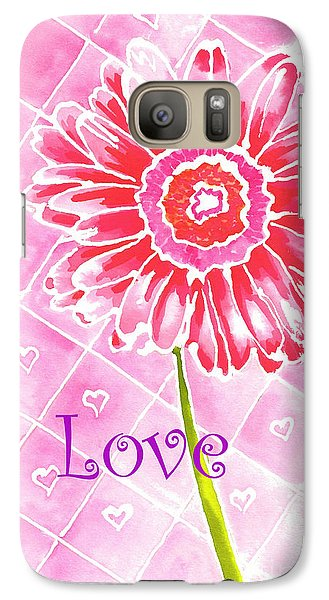 Galaxy Case featuring the painting Daisy Loves Love by Terry Taylor
