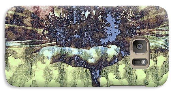 Galaxy Case featuring the digital art Daisy Melt by Irma BACKELANT GALLERIES