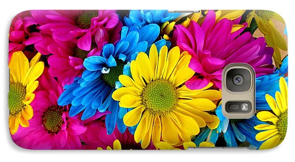 Galaxy Case featuring the photograph Daisys Flowers Bloom Colorful Petals Nature by Paul Fearn