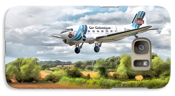 Galaxy Case featuring the digital art Dakota - Cleared To Land by Paul Gulliver