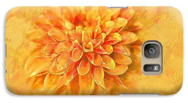 Galaxy Case featuring the photograph Dalhia Abstract by Linda Blair