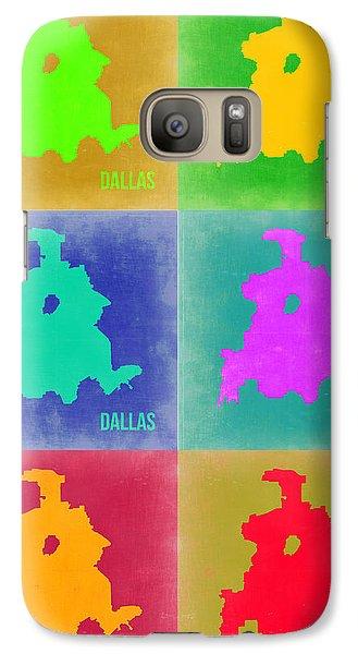 Dallas Pop Art Map 3 Galaxy S7 Case by Naxart Studio
