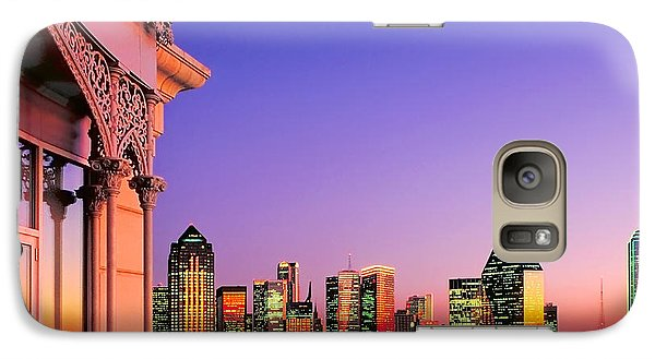 Galaxy Case featuring the photograph Dallas Skyline At Dusk by David Perry Lawrence