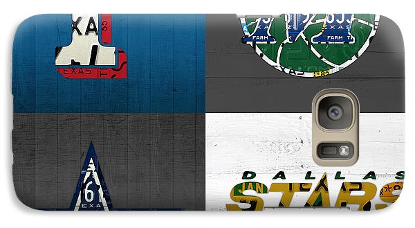 Dallas Sports Fan Recycled Vintage Texas License Plate Art Rangers Mavericks Cowboys Stars Galaxy S7 Case