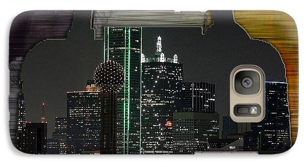 Dallas Texas Skyline In A Purse Galaxy Case by Marvin Blaine