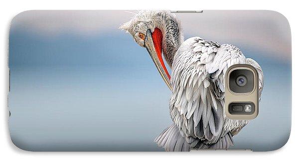 Pelican Galaxy S7 Case - Dalmatian Pelican At Dawn by Xavier Ortega