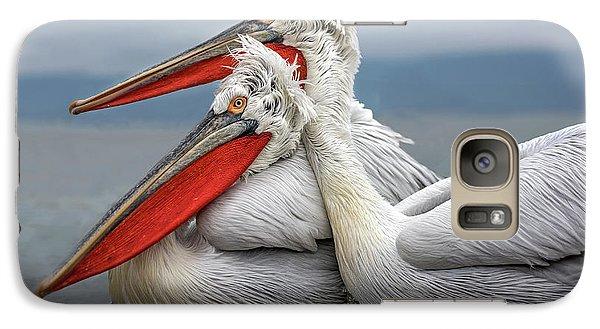 Pelican Galaxy S7 Case - Dalmatian Pelicans by Xavier Ortega