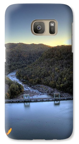 Galaxy S7 Case featuring the photograph Dam Across The River by Jonny D