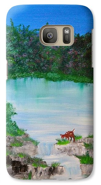 Galaxy Case featuring the painting Damn I'm Thirsty by Denise Tomasura