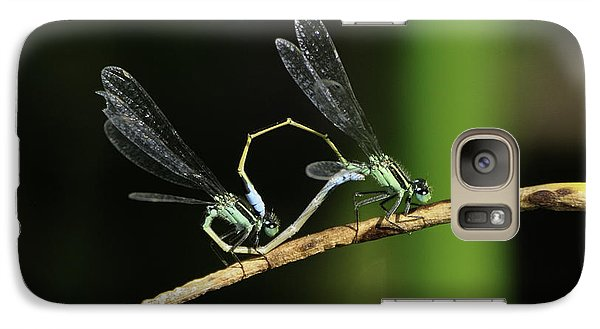 Galaxy Case featuring the photograph Damselflies Mating by Bradford Martin