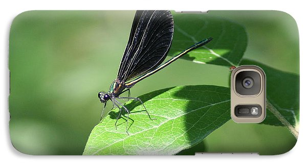 Galaxy Case featuring the photograph Damselfly  by Karen Silvestri