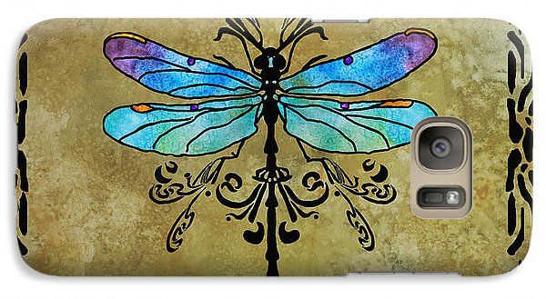 Damselfly Nouveau Galaxy Case by Jenny Armitage