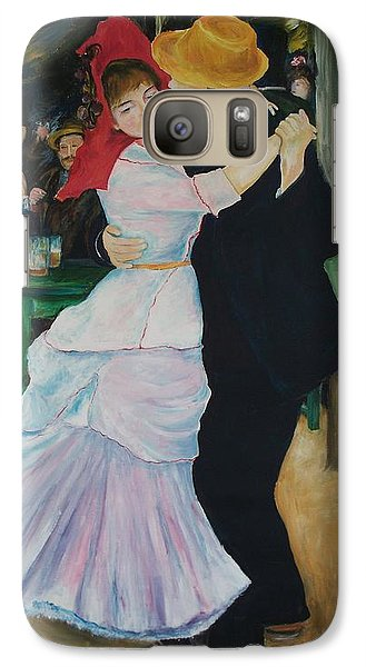 Galaxy Case featuring the painting Dance At Bougival Renoir by Eric  Schiabor