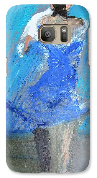 Galaxy Case featuring the painting Dance In The Rain by Keith Thue