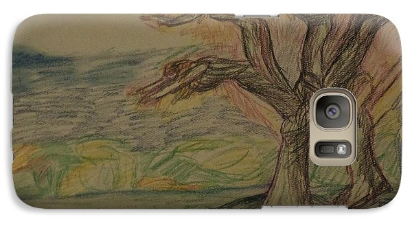 Galaxy Case featuring the drawing Dance In The Wind by Christy Saunders Church