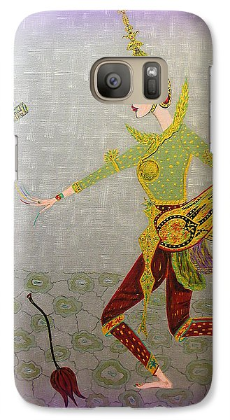 Galaxy Case featuring the painting Dance Of A Nymph by Marie Schwarzer