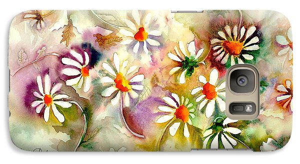 Dance Of The Daisies Galaxy Case by Neela Pushparaj