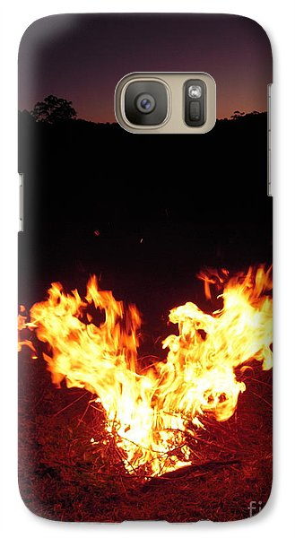 Galaxy Case featuring the photograph Fire In Your Heart by Ankya Klay