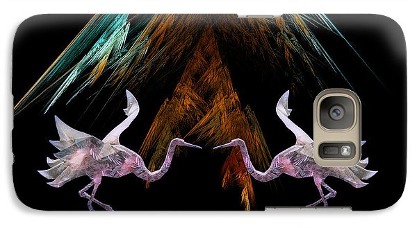 Galaxy Case featuring the digital art Dance Of The Paper Cranes by Kathleen Holley