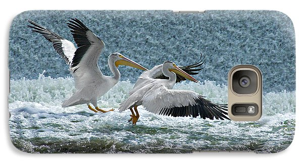Galaxy Case featuring the photograph Dance Of The Pelicans by Judy  Johnson