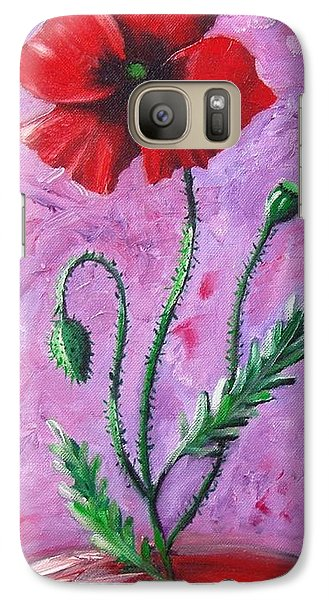 Galaxy Case featuring the painting Dance Of The Poppy by Nina Mitkova