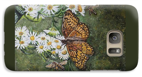 Galaxy Case featuring the painting Dance With The Daisies by Kimberlee Baxter