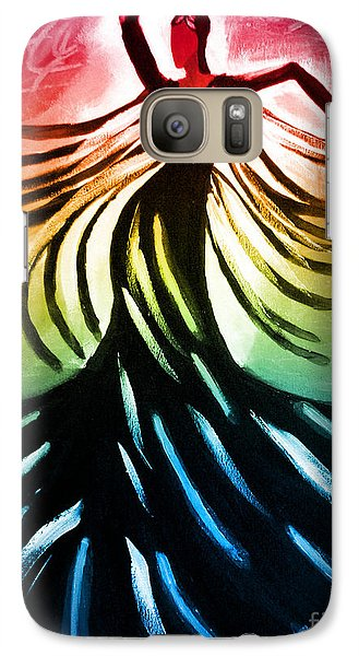 Galaxy Case featuring the painting Dancer 3 by Anita Lewis