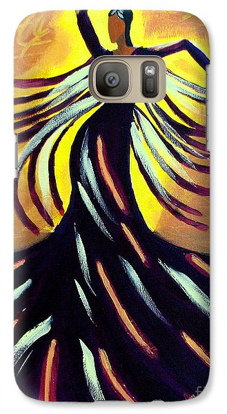 Galaxy Case featuring the painting Dancer by Anita Lewis