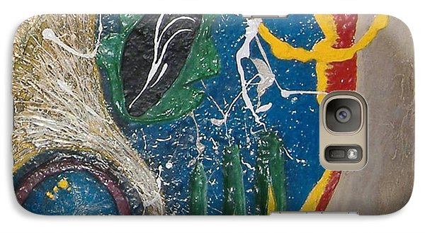 Galaxy Case featuring the mixed media Dances With Aliens by Steve  Hester