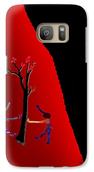 Galaxy Case featuring the digital art Dancing Around A Tree by Asok Mukhopadhyay