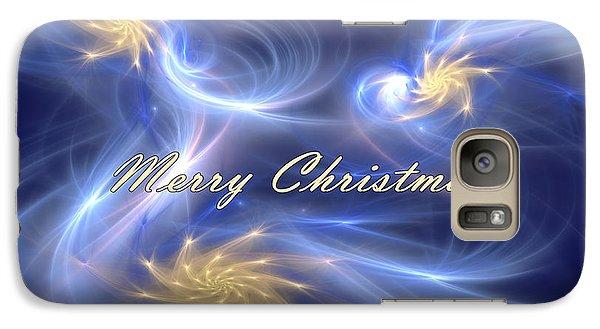 Galaxy Case featuring the digital art Dancing Christmas Stars by Svetlana Nikolova