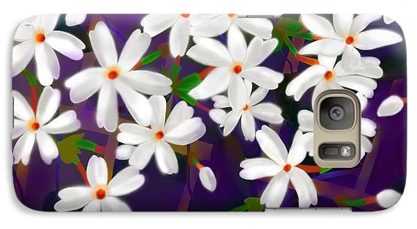 Galaxy Case featuring the digital art Dancing Coral Jasmines by Latha Gokuldas Panicker
