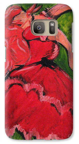 Galaxy Case featuring the painting Dancing Doll by Wendy Coulson