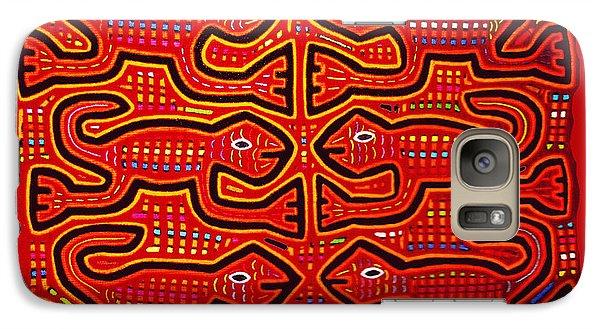 Galaxy Case featuring the digital art Dancing Geckos by Vagabond Folk Art - Virginia Vivier