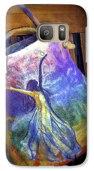 Galaxy Case featuring the mixed media Dancing Goddess Needle Felted Bag by Shelley Bain
